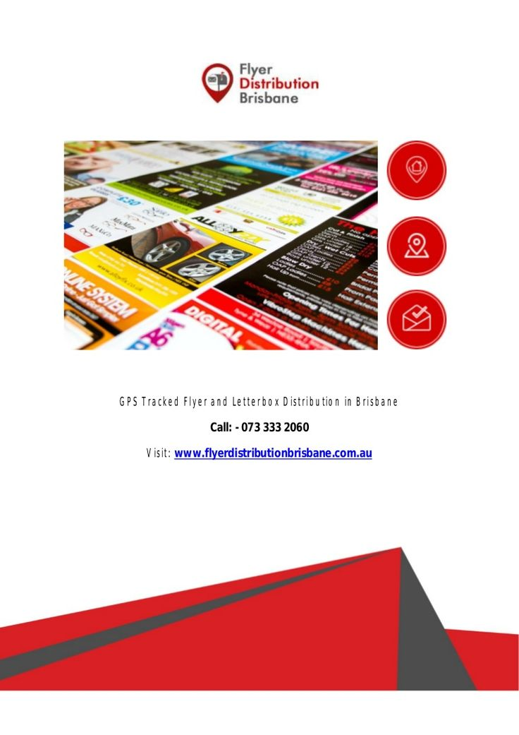 """How will you comprehend that your #flyers, #pamphlets or letterbox are truly heading off to their targeted place? Here we are """"Flyer Distribution Brisbane"""" having the answer for this. We give you clear idea of your distributed flyer with #GPS device attached."""