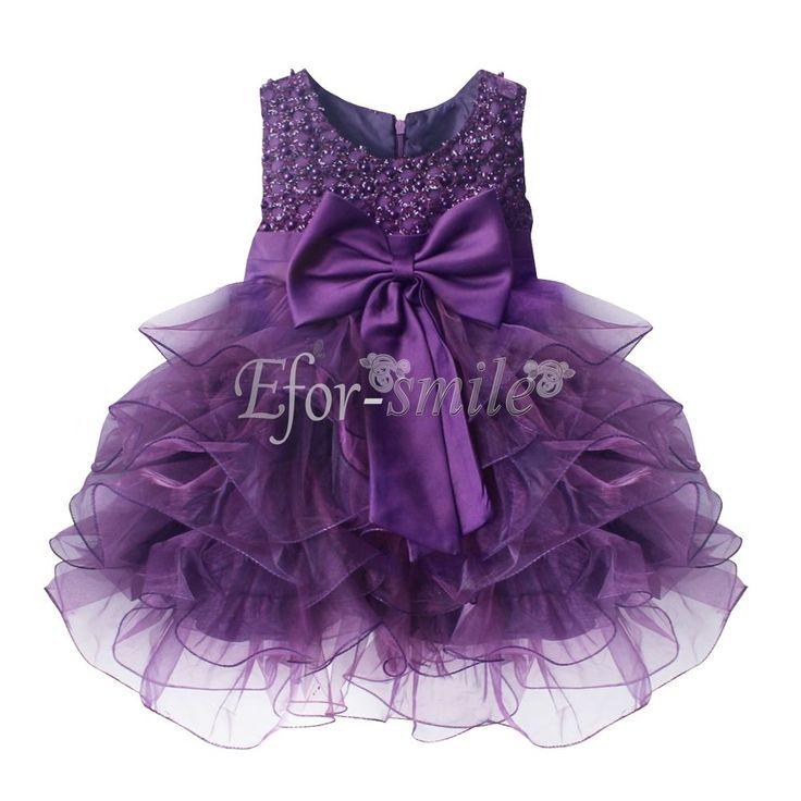 Flower Girl Princess Fancy Dress Kids ChristmasParty Pageant Wedding Tulle Dress http://ift.tt/2vgkkUG
