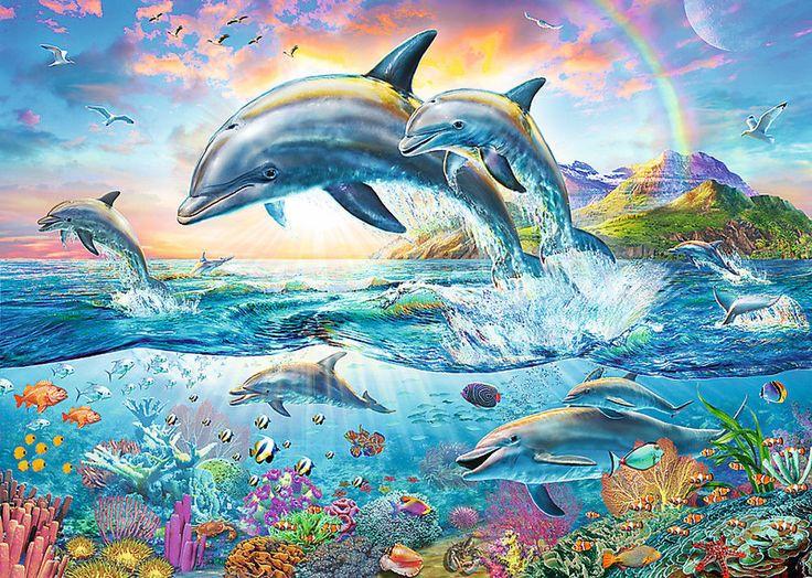 Trefl Puzzle 2000 Teile Glückliche Delphine (27087) in Spielzeug, Puzzles & Geduldspiele, Puzzles | eBay