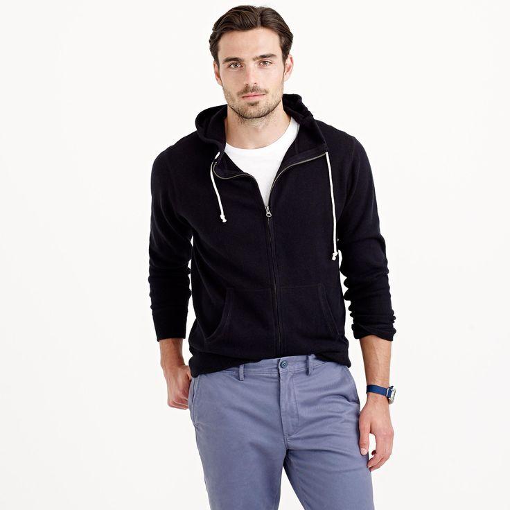 Cotton-cashmere zip hoodie : cotton-cashmere   J.Crew