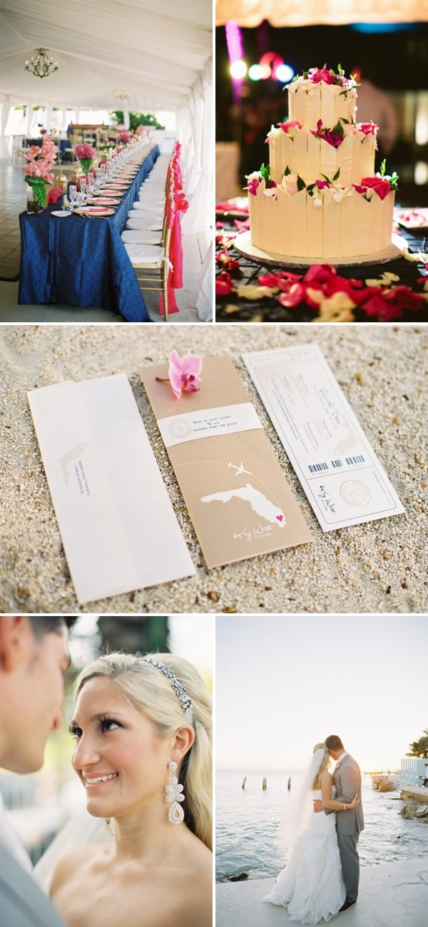 key west wedding... I love the invite and they did it at my two dream venues!