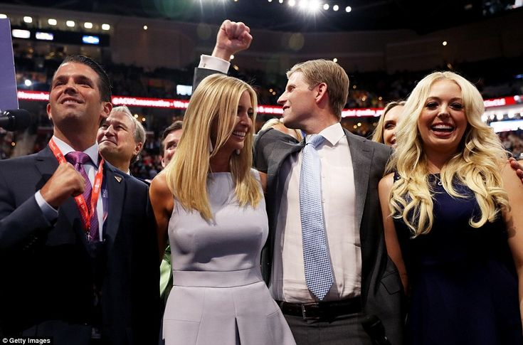 Donald Trump's daughter Tiffany pay's tribute to her father at the Republican convention | Daily Mail Online