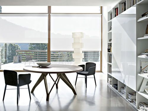 Contemporary round wooden table - WOW by Toan Nguyen - LEMA Home