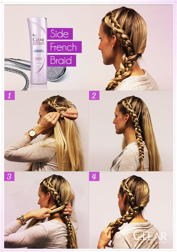 Keep the bangs out of your face when working on your fitness with a Side French Braid.