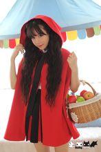 Prinses zoete lolita jas roodkapje Lolita cape jas tweedelige ontwerp grote kap Dolley-0006-1(China)