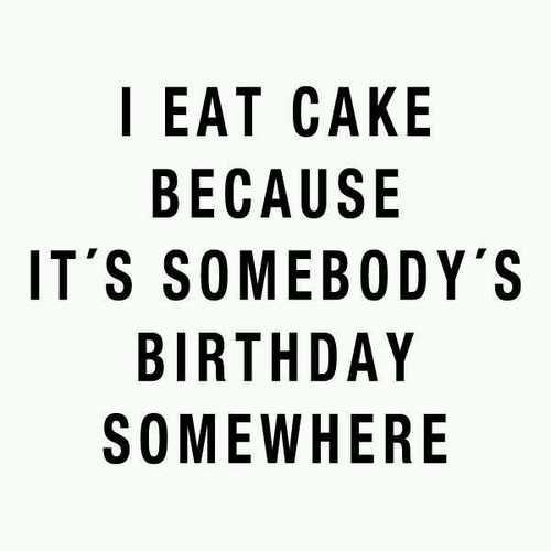 Cake makes anything a celebration!