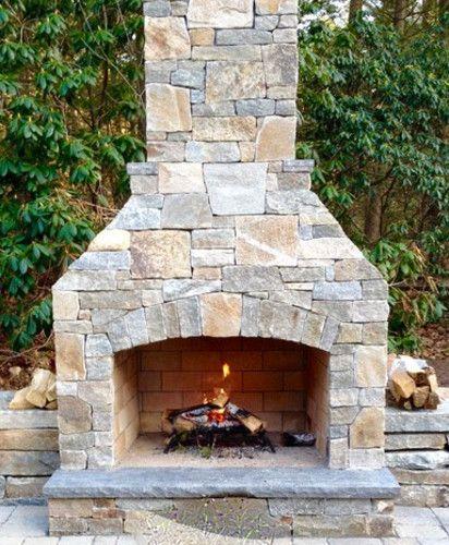 25+ bsta Outdoor fireplace kits iderna p Pinterest ...