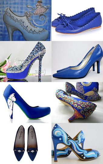 Blue blue shoes by Gaia Salatino Ghirardi on Etsy--Pinned with TreasuryPin.com