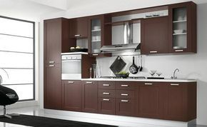 Diseños de muebles de cocinas de melamina modernos