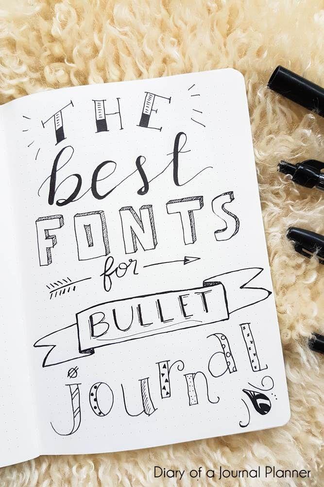 Bullet Journal Ideas: Bullet Journal Fonts (14 Fonts For Bullet Journal You Need