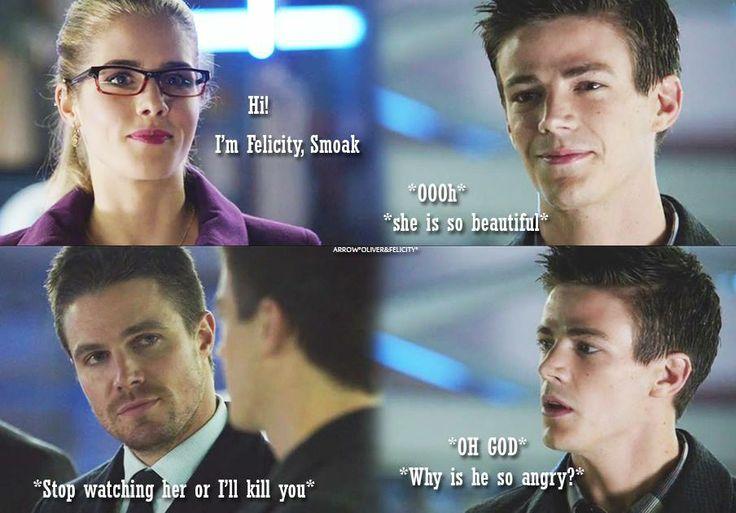 Arrow - Oliver, Felicity & Barry #Season2 #Olicity