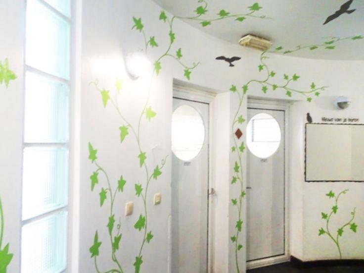 Schildering muren inkom appartementencomplex on Lizart  https://lizart.be/wp-content/uploads/decorative_murals/schildering-inkom-appartement-woonhaven.jpg