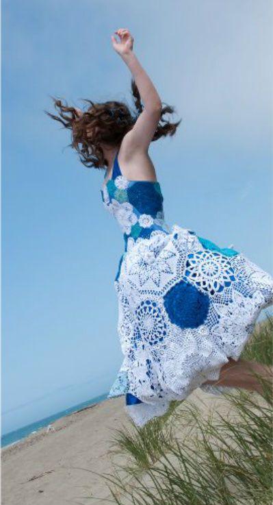 Cute doily crochet dress.