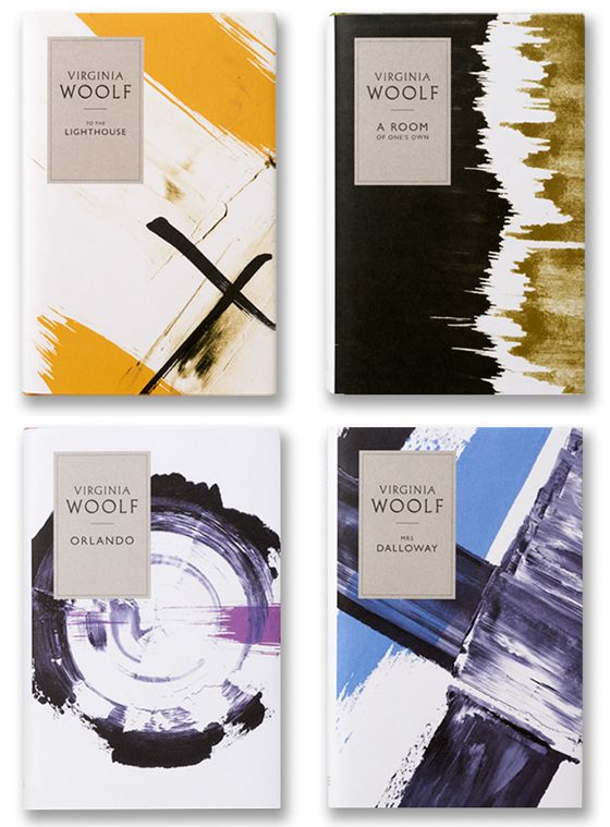 Redux book covers for classic Virginia Woolf novels, designed by Angus Hyland + team