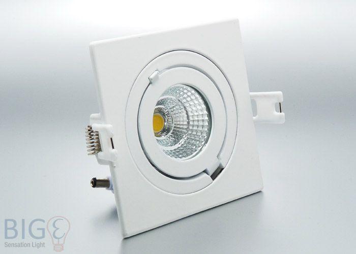LED Einbaustrahler 4eck COB schwenkbar 6 Watt- Ersetzt 50 Watt Halogen und wird wie normaler Einbaurahmen montiert.  http://www.bige.de/LED-Beleuchtung/LED-Einbauspots/LED-Einbaustrahler-4eck-COB-schwenkbar-6-Watt:--1729.html