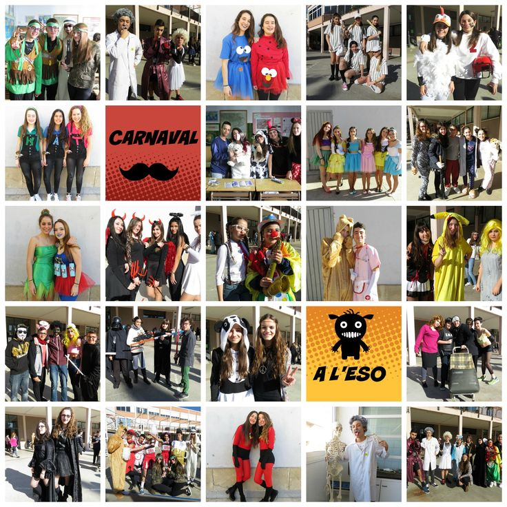Els alumnes de l'ESO es disfressen per Carnestoltes