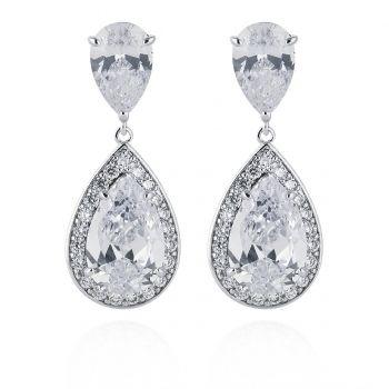 Abbie Simulated Diamond Earrings