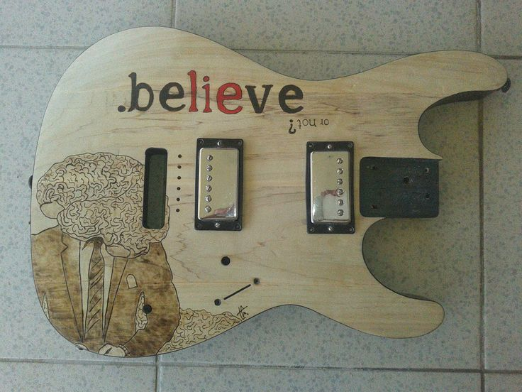 Electric Guitar PyroArt for .believe band!