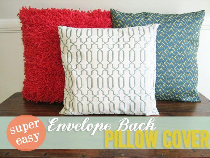 Easy Envelope Back Pillow Cover | http://heartsandsharts.com/easy-envelope-back-pillow-cover/