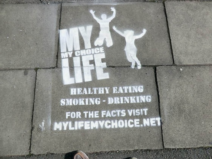 Using street art to promote the campaign