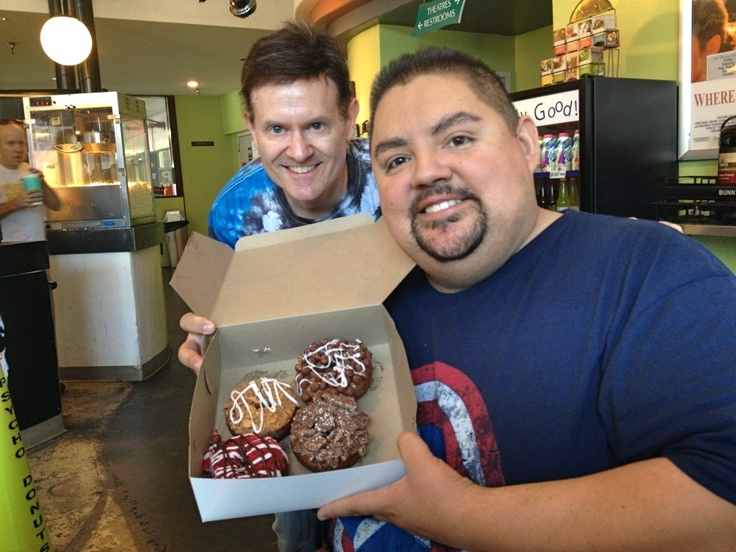 """Gives a whole new meaning to Fluffy Donuts, eh?  Gabriel """"Fluffy"""" Iglesias at Psycho San Jose! Copyright Psycho Donuts, All Rights Reserved."""