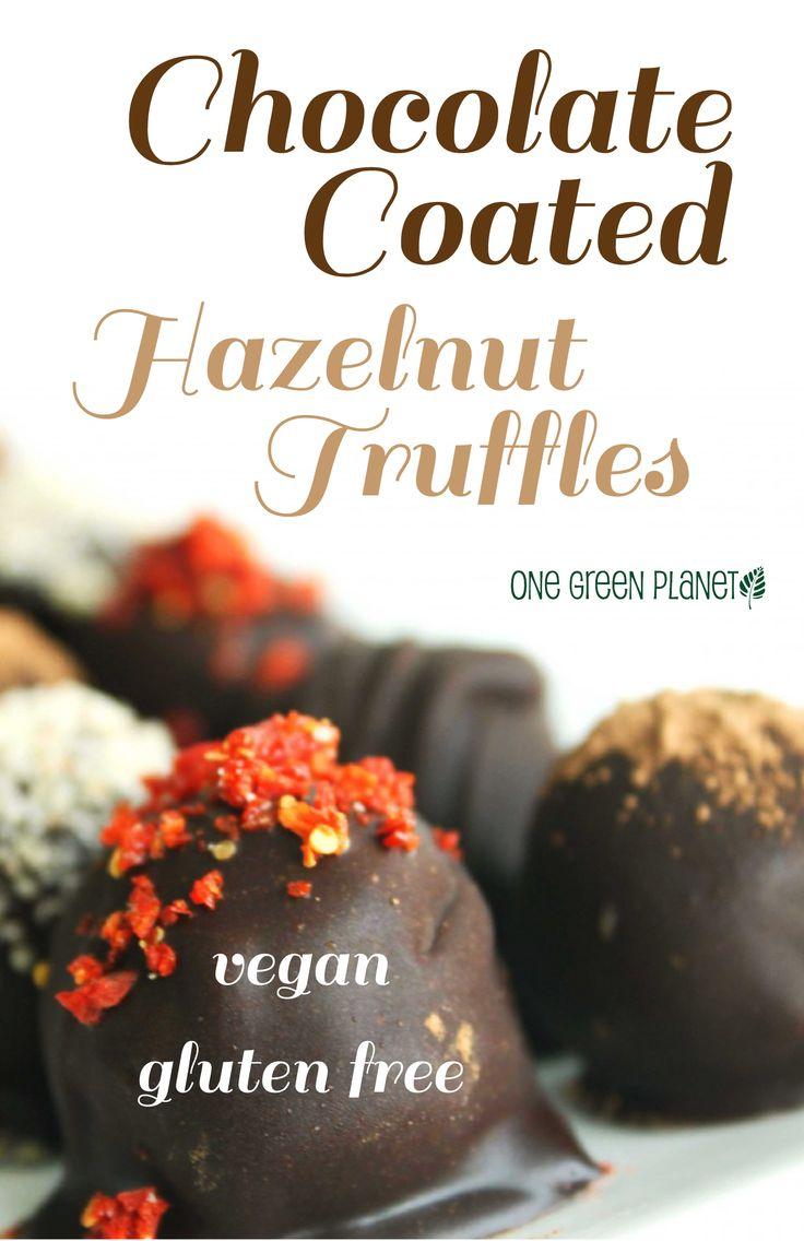 chocolate coated hazelnut truffles