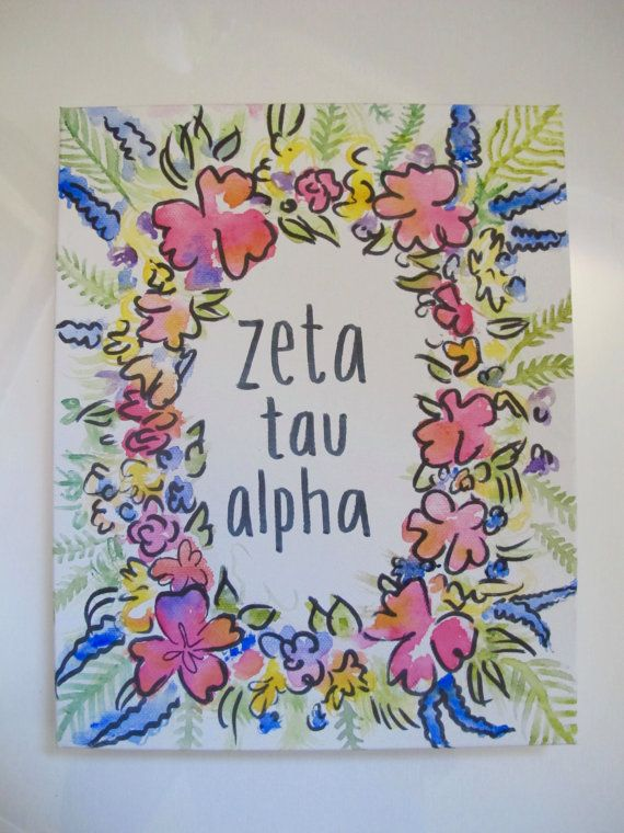 zta zeta tau alpha sorority art