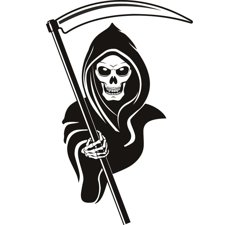 Grim Reaper Hood Drawing in Pencil | Grim Reaper Hood Halloween Wall Art Stickers Wall Decals Transfers ...