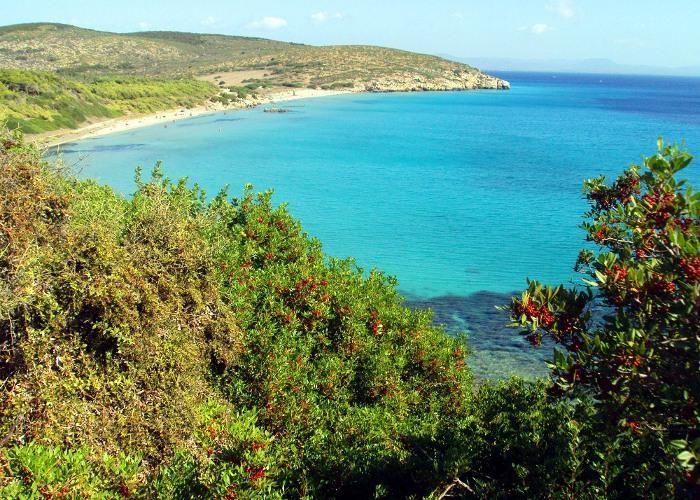 Spiaggia di Coa Quaddus, Isola di Sant'Antioco, Sardegna, Sardinia, beach