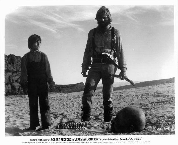 Robert Redford, Josh Albee, and Stefan Gierasch in Jeremiah Johnson (1972)