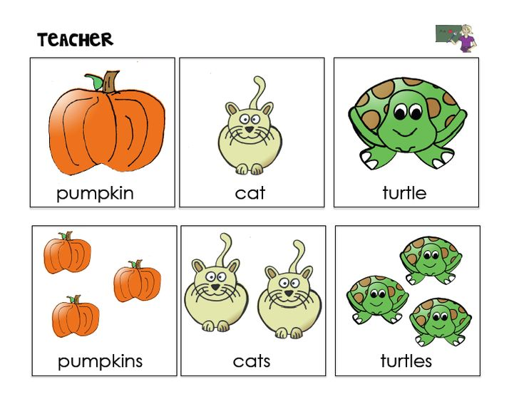 Teaching Plurals in Speech Therapy - Pinned by @PediaStaff – Please Visit ht.ly/63sNt for all our pediatric therapy pins