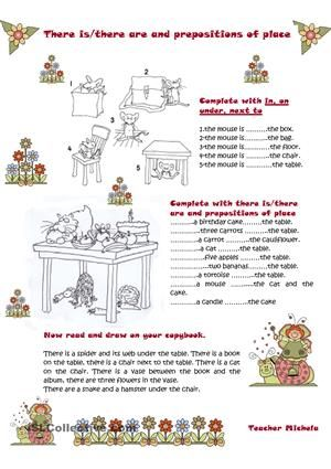 There is/there are and prepositions of place worksheet - Free ESL printable worksheets made by teachers