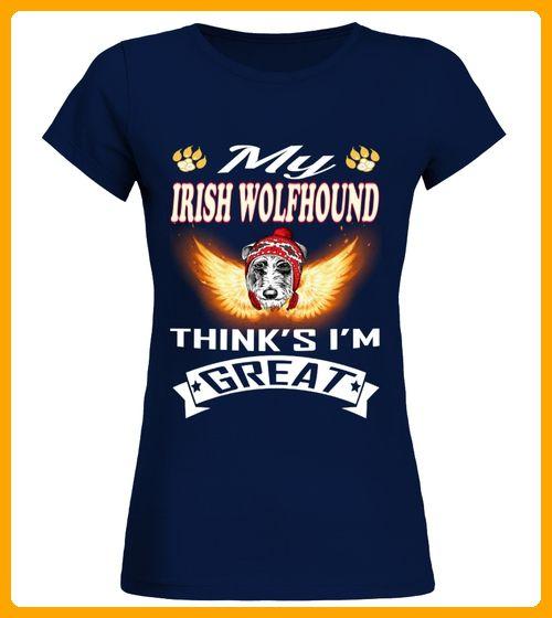 IRISH WOLFHOUND Thinks Im Great - Wolf shirts (*Partner-Link)