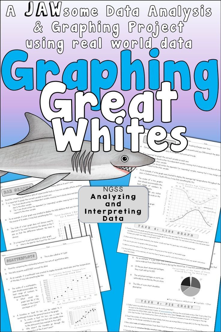 Graphing And Data Analysis Great White Shark Project Student