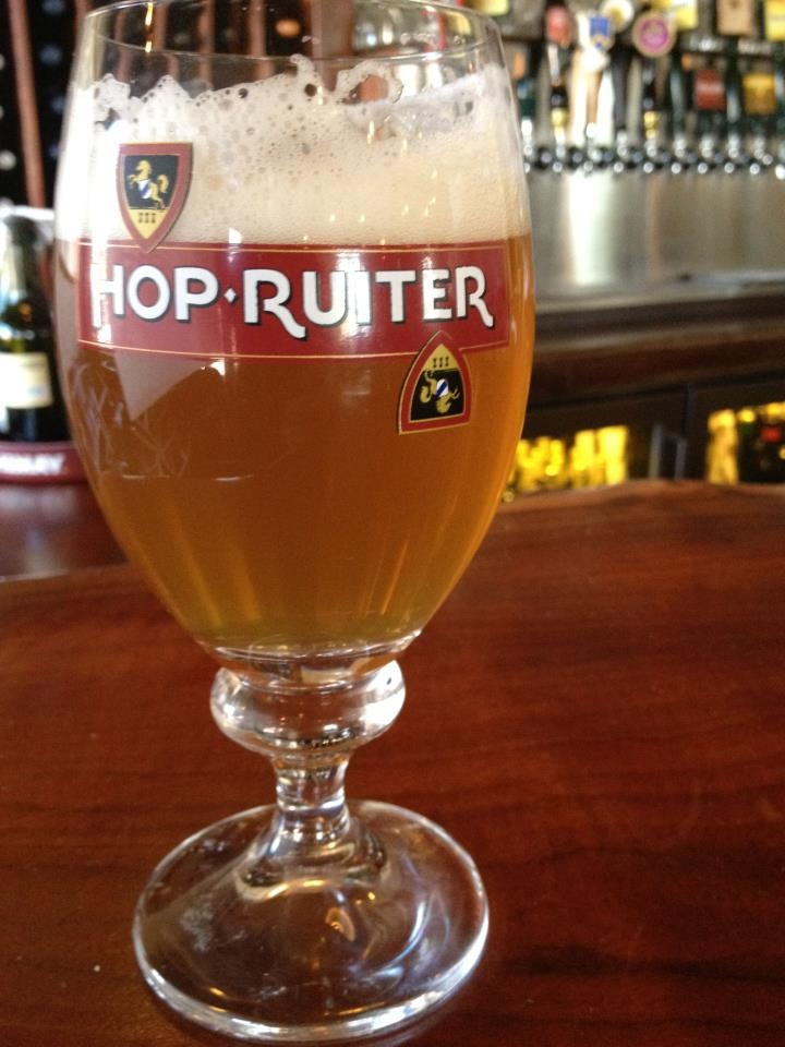 Have you tried the newest beer on draft on The Back Abbey, Hop Ruiter? It's a Belgian ale with a notable hoppy nose and dry finish. Well balanced.