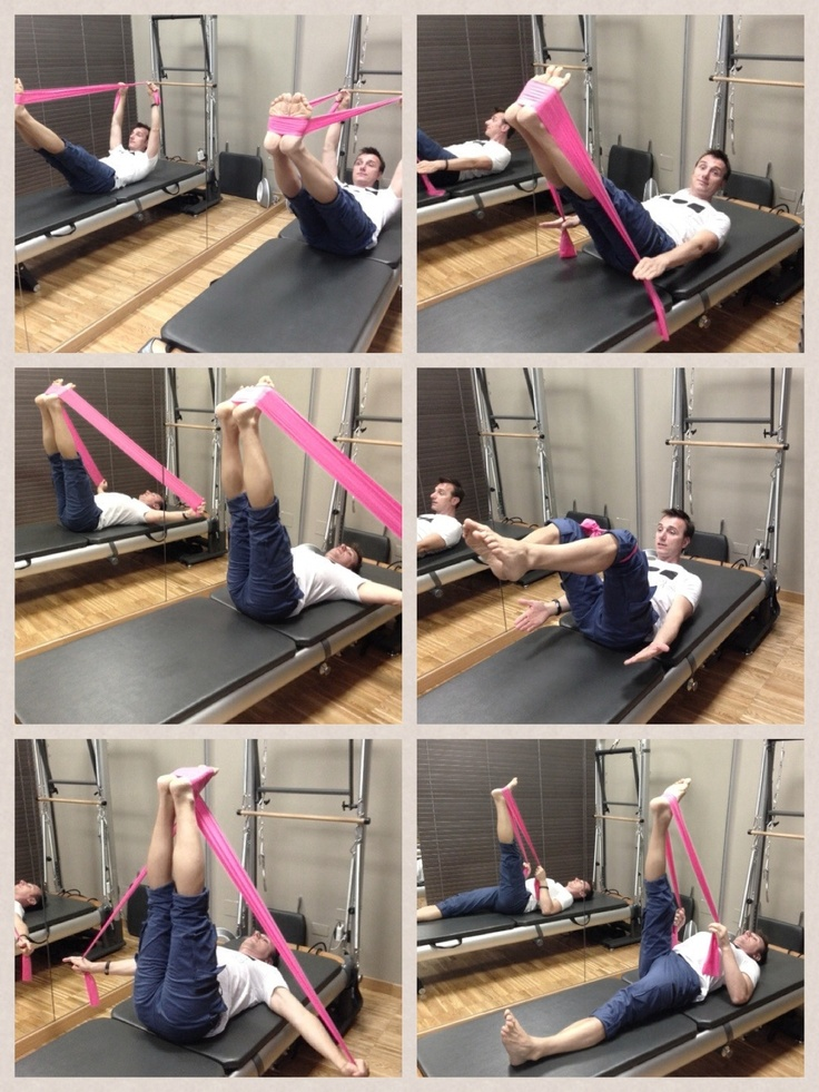 #pilates with #elastic band