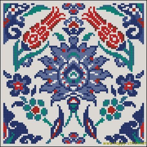 Eastern ornament free cross stitch pattern