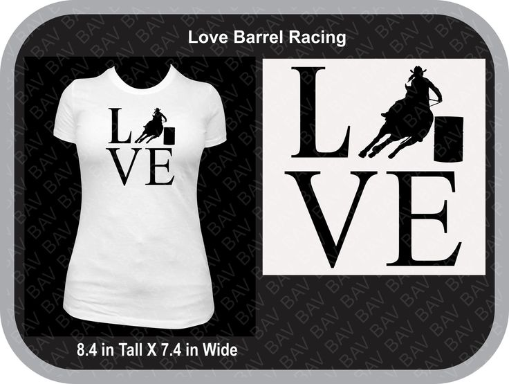 No matter your age, this design is great to show off your love for the Barrel Racing sport. LVE Barrel Racing is a simple design that says a lot. This custom T-Shirt is made from a Gildan tagless cott