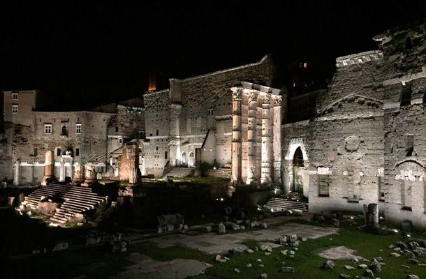 Nuova luce a Led per i Fori Imperiali di Roma