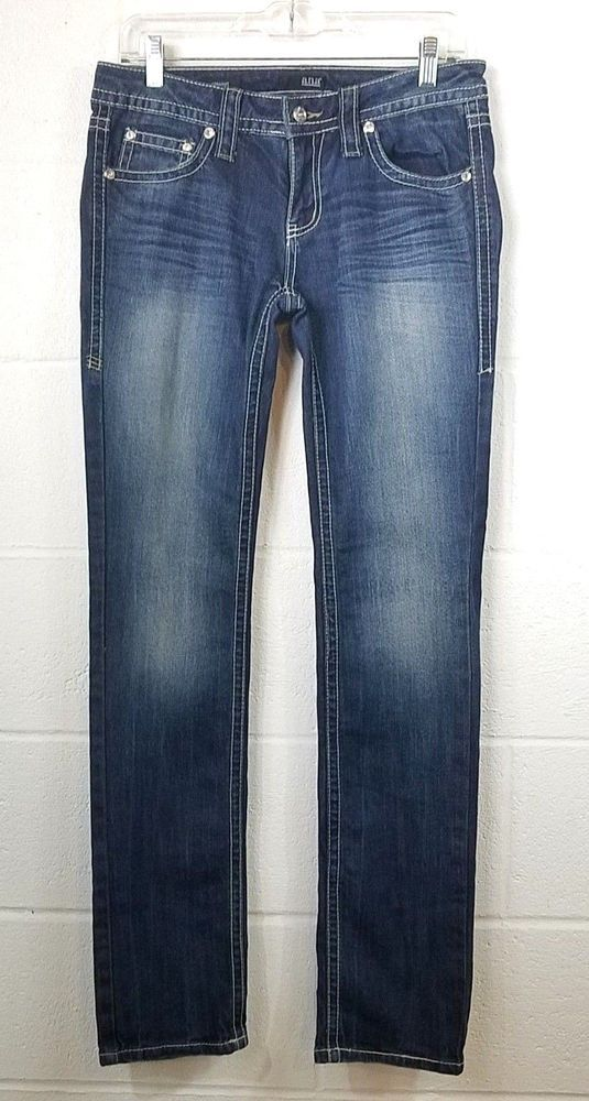 627b838c9f3 Women's A.N.A Jeans Pants Embellish Tag Size 31/12 Bootcut Dark Blue Stretch  #ana #Straight