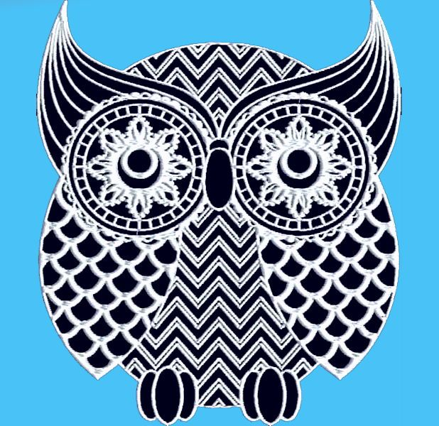 OWLS AND MORE OWLS 20 MACHINE EMBROIDERY DESIGNS CD or USB
