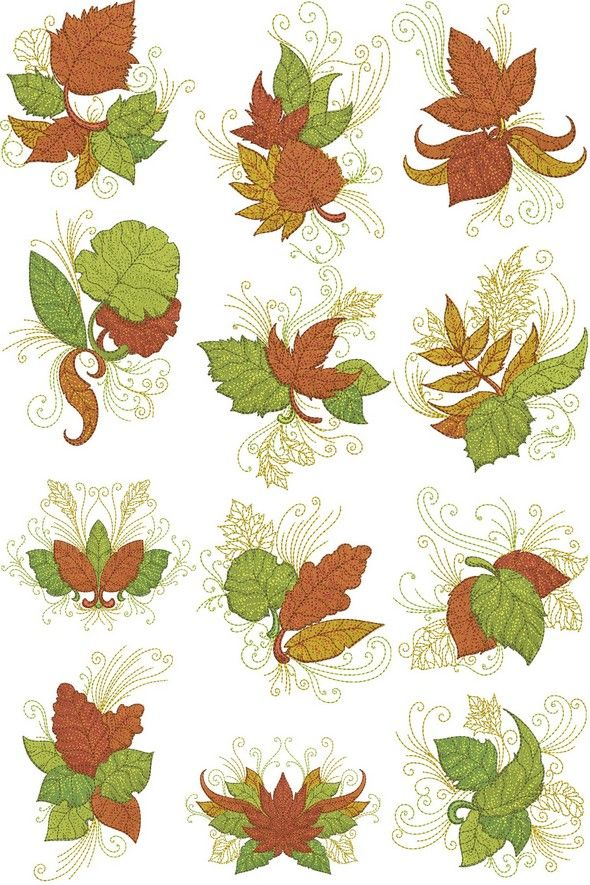 Autumn leaves quilling trees pinterest embroidery