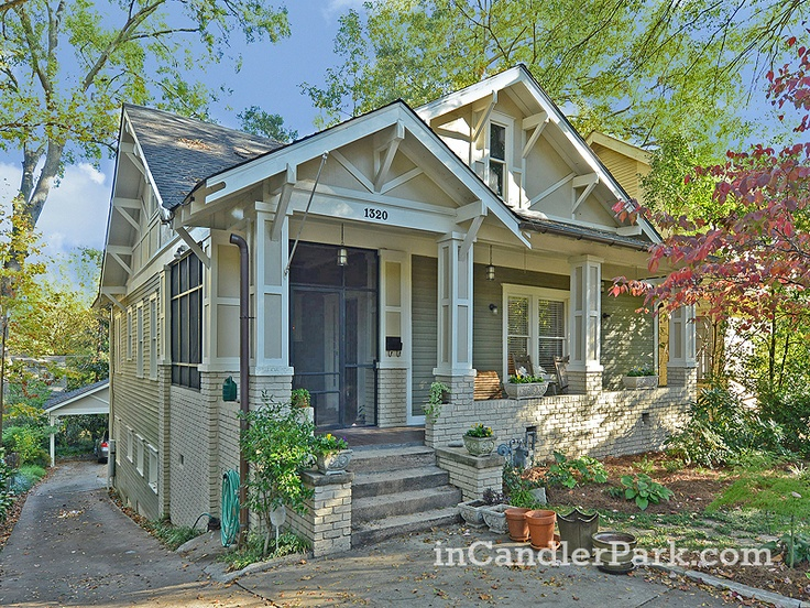 Love This Craftsman Bungalow In Atlantas Candler Park Neighborhood Its Right Across From Freedom
