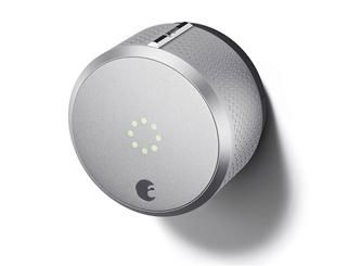 The HomeKit-enabled August Smart Lock keeps tabs on who is entering and leaving your home using your smartphone. It's a snap to install and offers all the latest technologies including voice activation, geofencing, and an IFTTT channel that allows it to trigger other devices.