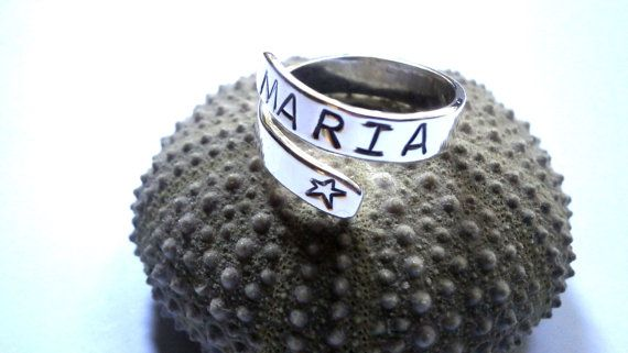 Fine Silver Ring Wrap Ring Personalized by JewelryByKonstantis