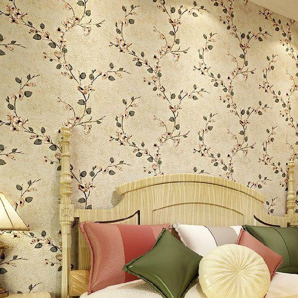 6181-Vintage цветок цветочный романтический искусство нет плетеная ткань обои 0.53 m * 10 m / рулон, Стиль для спальня гостиная