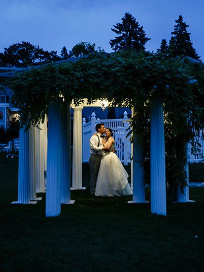 Stealing A Moment Alone From Their Incredible Destination Wedding Celebration At The Nonantum Resort In Kennebunkport