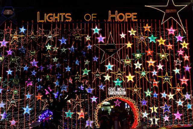 Lights of Hope at St. Paul's will switch on November 16, 2017. 100,000 sparkling lights and more than 200 stars that make up the spectacular display with donations supporting Providence Health Care's hospitals and residences.