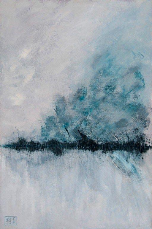 Iva Trzcinska | Zamieć | 120×80 | akryl na płótnie | 2016