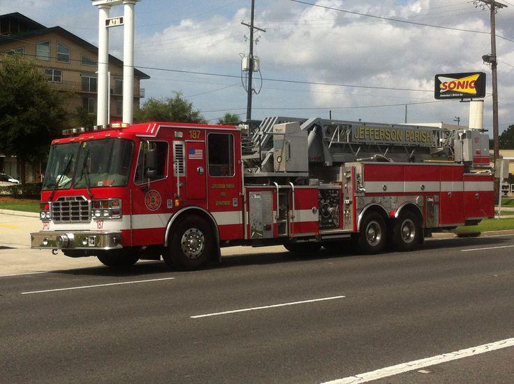 Ladder 187 Jefferson Parish Fire trucks, Fire rescue